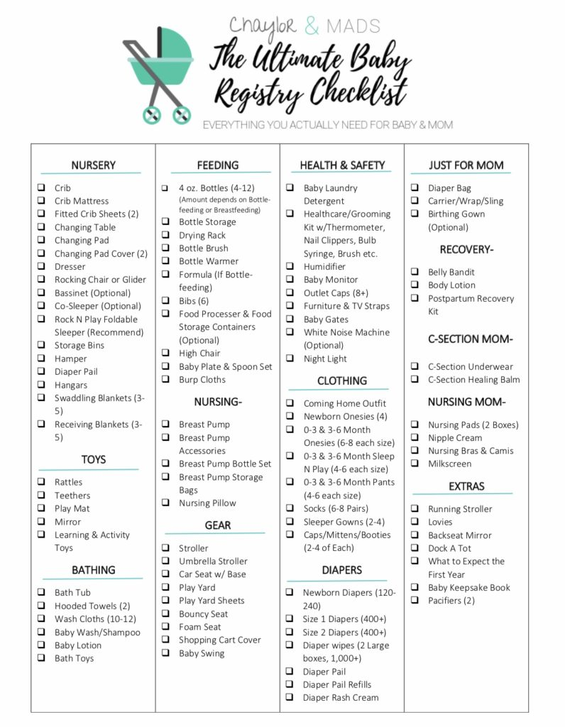 Baby Registry Checklists | Your Ultimate Baby Registry Checklist Find Out The Items You