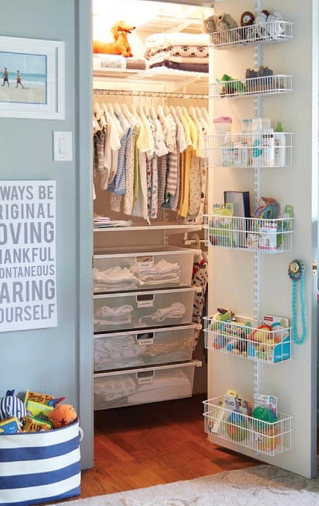 Idea 16 Add Storage To The Closet Doors Nursery Ideas