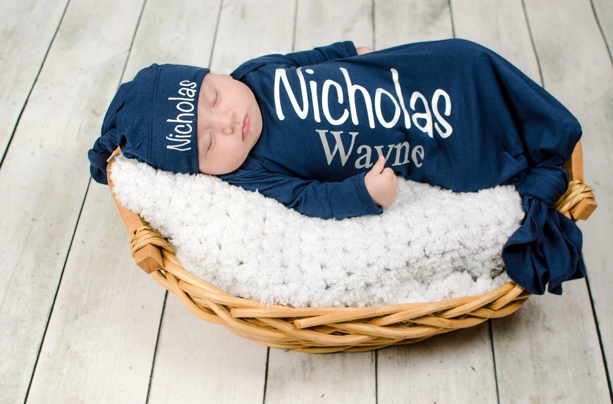 Baby Boy Coming Home Outfit Sleeper Beanie