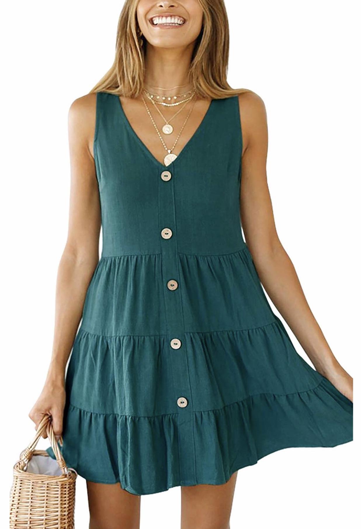 Cora Striped Cotton Bardot Summer Dress   Womens Summer